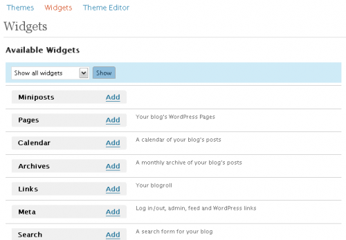 wordpress 2.5 interface 09